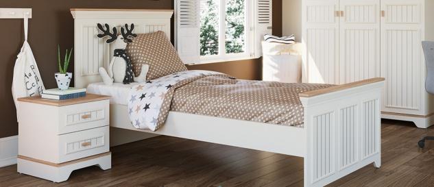 Almila Jugendzimmer Monte 5-teilig Weiß 100x200 cm