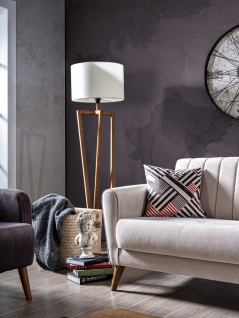 Wohnzimmer Couch Set Maya mit Klappsofa Creme - Vorschau 3