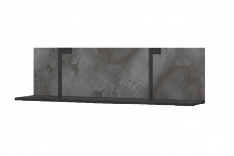 Wandboard Novali in Grau Schwarz