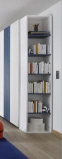 Design Anstellregal mit fünf Böden Blau Space