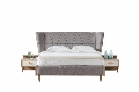 Doppelbett Venic mit Bettkasten in Grau 160x200