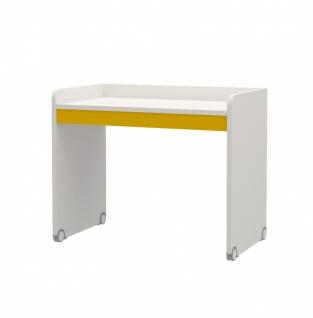 Kinderzimmer Schreibtisch Neo Weiß Gelb