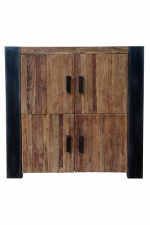 Highboard Kroko mit 4 Türen aus Teakholz recycelt