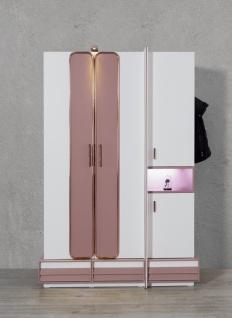 Titi Kleiderschrank Rosi 3-türig mit tollen Extras Altrosa