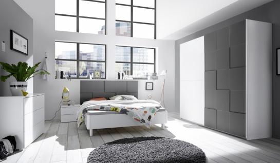 Schlafzimmer in Anthrazit Ottea 4-teilig 180x200