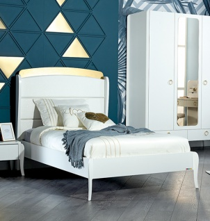 Design Jugendzimmer Elegant White 5-teilig - Vorschau 2