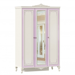Lubidom Kleiderschrank mit Spiegeltür Marquisa 3-türig