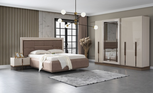Lidya Schlafzimmer Set 5-teilig Lucca Bett in 180x200
