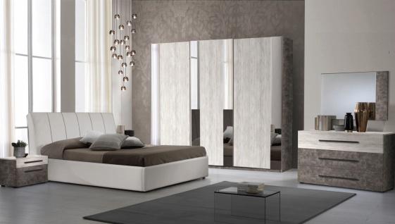 Schlafzimmer Set Lea in Creme/Grau 160x190