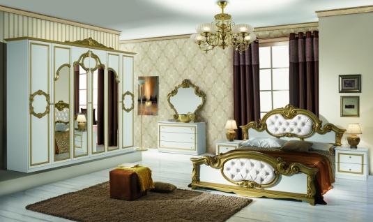 Italien Schlafzimmer Weiß Bartek mit 6-türigem Schrank