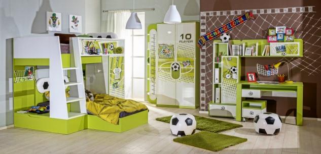 Fußball Kinderzimmer komplett Set Football 9-teilig