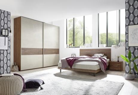 Schlafzimmer in Natur Nussbaum dunkel Luana