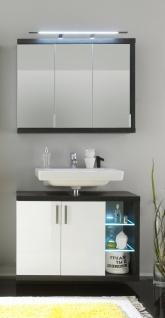 Badezimmer Set Bino 2-teilig Weiß Grau