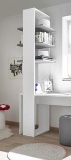 Design Regal mit drei Böden in Grau Space