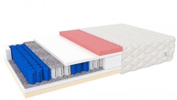 Taschenfederkern Matratze mit Latex Davoso 100x200