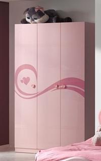 Lidi Kleiderschrank 3-türig Pink