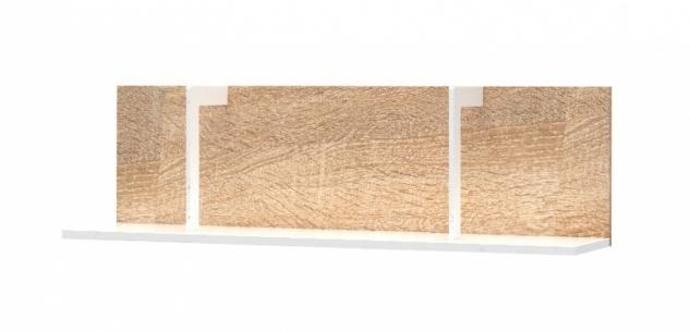 Wandregal Novali in Holz Optik Weiß