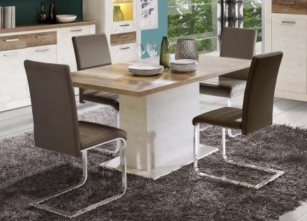 Esstisch in Pinia Weiß Hedda 160x90 ausziehbar