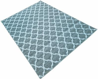 Teppich Blau Minor mit grauem Muster