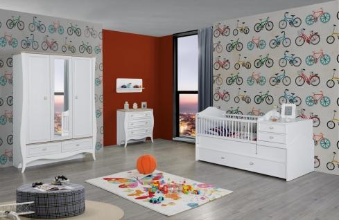 Babyzimmer Set in Weiß Diamond 4-teilig mitwachsend