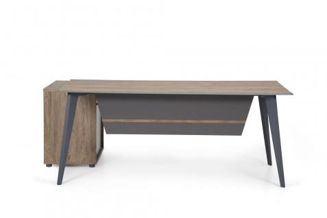 Ovali Design Büroschreibtisch 2-teilig Eco L3 140x80 cm