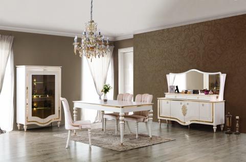 Esszimmer Annelore in Barock Stil Weiß / Gold