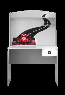 Schreibtisch Turbo 100x62 in Weiß mit Aufsatz