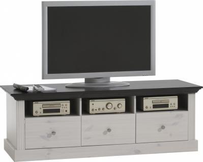 Wohnzimmer TV Schrank Monaco - kiefer massiv weiss