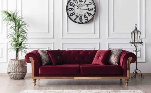 Sofa Lifa in Rot mit Dekokissen 2-Sitzer