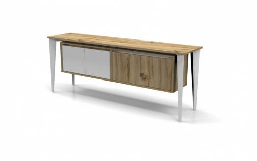Büroschrank Holz Optik Weiß Icono Lux