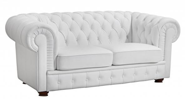 Sofa 2-Sitz Bridgeport pigmentiertes Nappaleder, verschiedene Farben