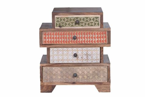 Kommode Admiro mit 4 Schubladen Sheshame Natur