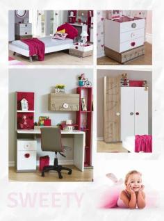 Stauraumbett in Weiß Pink Sweety 100x200 - Vorschau 3