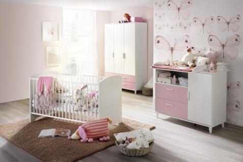 Babyzimmer Alpinweiß und Rosa Set Aik 3-teilig