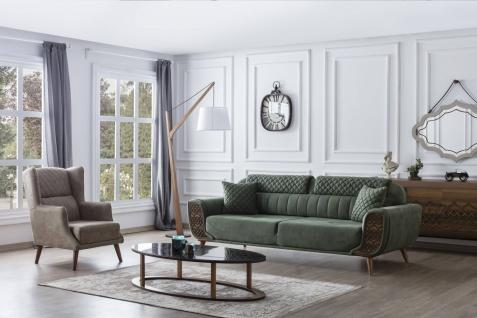 Weltew Sofa Serie mit 2-Sitzer und Sessel Vega