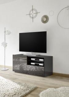 TV Schrank mit Siebdruck Orim Anthrazit
