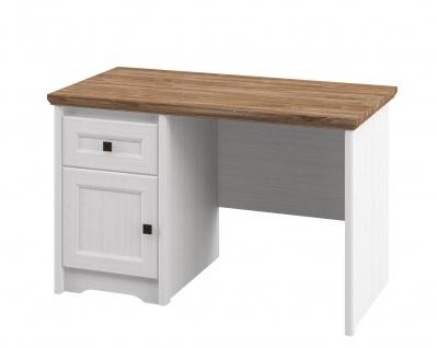 Neman Schreibtisch mit Schublade Tivoli Landhausstil Weiß