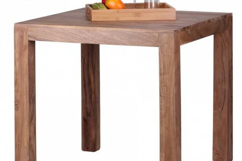 Design Esstisch quadratisch Massiv 80 x 80 cm Akazie Massivholz