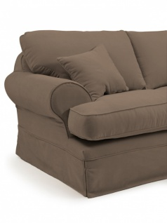 2, 5 Sitzer Sofa Hermine Velourstoff, sahara