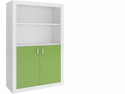 Jugend Bücherregal Phil 2-türig Weiß Grün