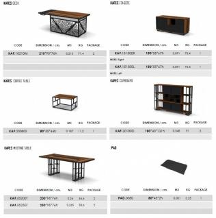 Design Büroschreibtisch Kafes L-Form - Vorschau 2