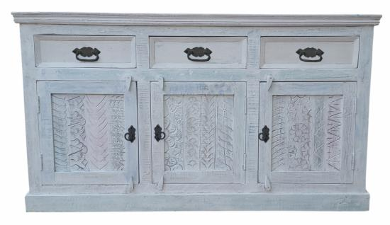 Sideboard Weiß Belisa aus Altholz White Wash