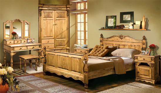 Schlafzimmerset Wiking 4-teilig Kiefer massiv