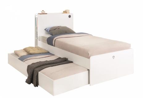 Cilek White Jugendbett mit Gästebett und USB