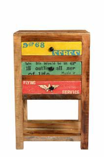 Beistelltisch Holz Avias 44x32 mit 3 Schubladen