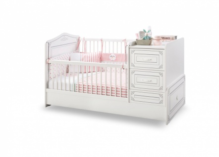 Cilek Selena mitwachsendes Babybett Weiß 75x160 - Vorschau 1