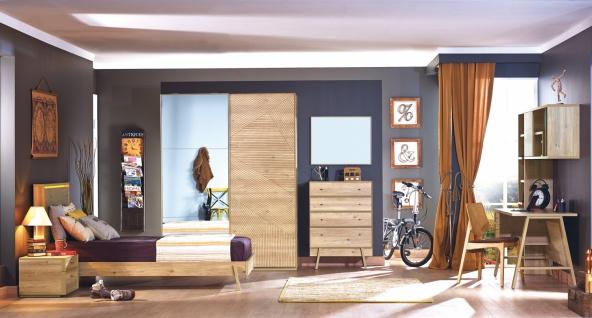 Jugendzimmer Set in Holz Optik Origami 8-teilig