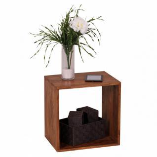 Massivholz Sheesham Cube Regal 43, 5 x 43, 5 x 33 cm Cube