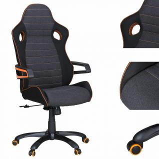 Alonso Racing Chefsessel Orange-Line schwarz grau