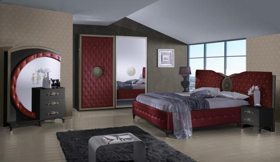 Design Schlafzimmer Set in Rot Natalia 4-teilig - Vorschau 1